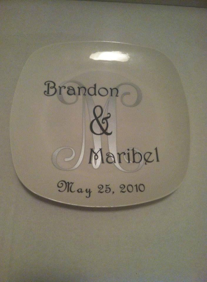 Wedding Plate Vinyl Projects Pinterest Wedding