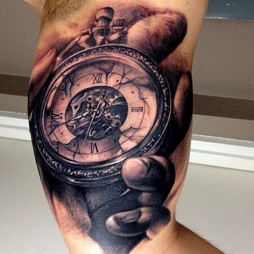 Taschenuhr tattoo hand  23 besten Tatoo Relógio Bilder auf Pinterest | Kompass, Google ...