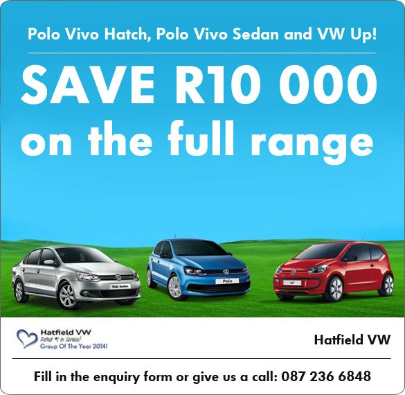 Volkswagen Polo Vivo and Up Save R10 000
