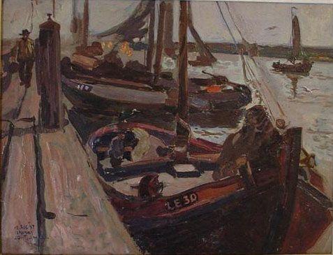 Afbeelding van http://www.friesekunst.nl/images/collectie/Haven%20van%20Lemmer%20091.jpg.