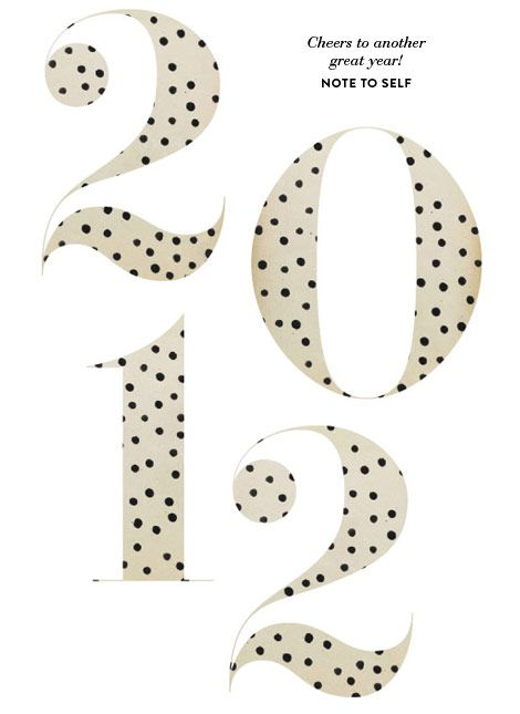 .Polka Dots, Inspiration, Numbers, 2012, Graphics Design, Polkadot Letters, Note To Self, Invitations Ideas, New Years