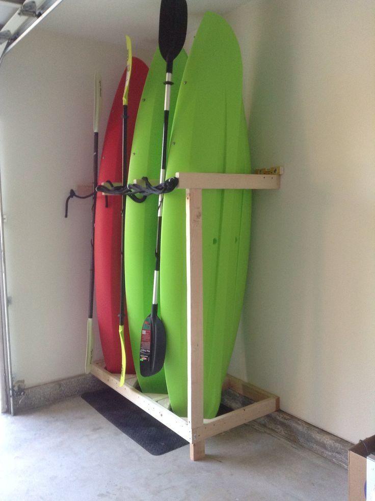Beautiful Garage Kayak Rack #3: Garage Kayak Storage Rack In Case They Donu0026#39;t Fit In Ceiling Beams