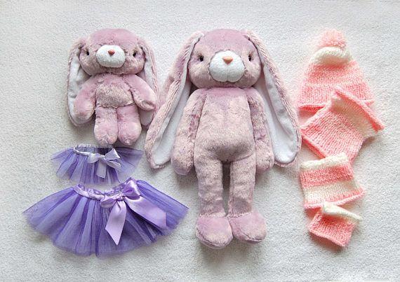 Toy set Mini clothing Plush Bunny Stuffed gift Cute Gift