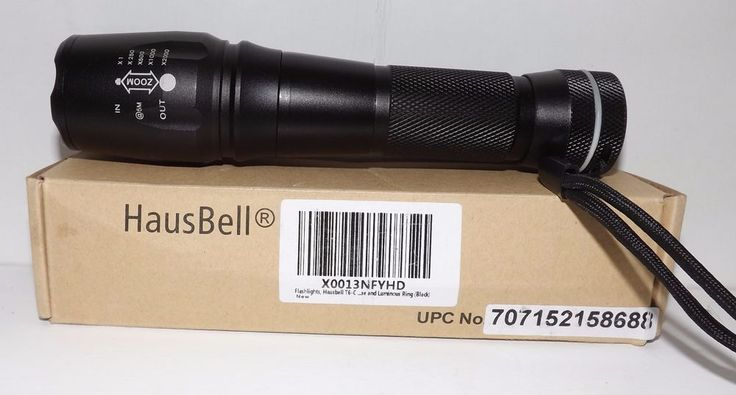Hausbell Magnet Base T6-C 800lumen LED Flashlight 5 Modes Zoomable Tactical Flas #Hausbell