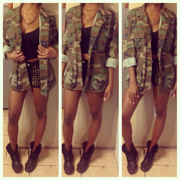 Army Fatigue Jacket Style | Style Inspiration | Pinterest ...