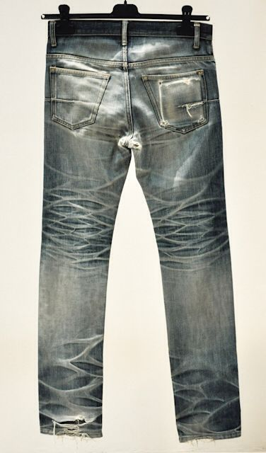Raw dior homme jeans after 4 years of on and off wear with 2 washes