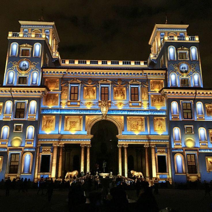 Projection sur la façade de la Villa Médicis lors du 350ème anniversaire de l'académie de France à Rome - Fev. 2016 ©ROME Pratique