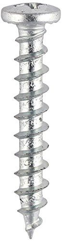 TIMco 215SS BZP PVC Shallow Pan Head Window Screw 4.8 x 16 - Stainless Steel (Box of 1000 )
