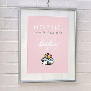 'Baking' Typographic Print