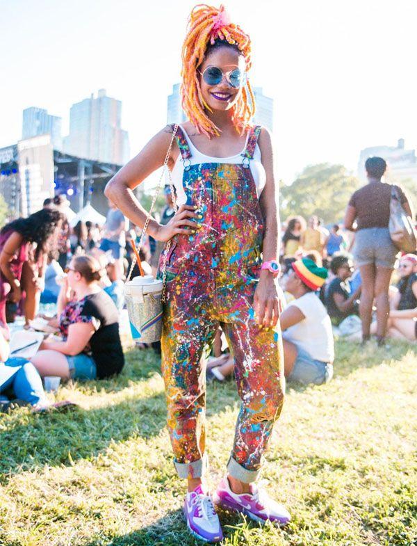 Look da Magá Moura no festival Afropunk em Nova York.
