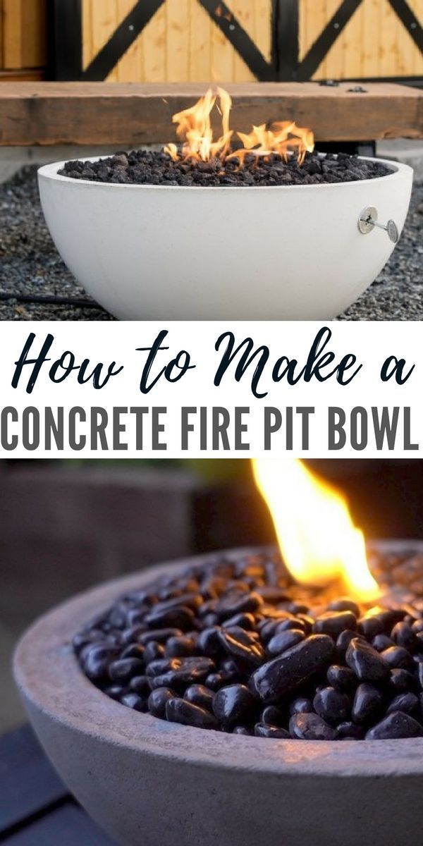 How to Make a Concrete Fire Pit Bowl - I stumbled on this cool looking bowl,  I liked it because its cheap to make and because its so plain to look at ... - How To Make A Concrete Fire Pit Bowl Awesome Ideas Pinterest