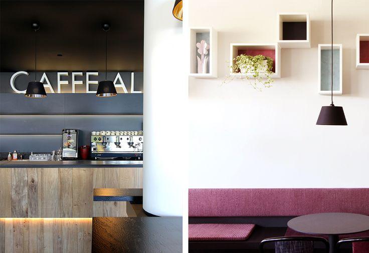 Caffè al Centro #cafè #colors #wood