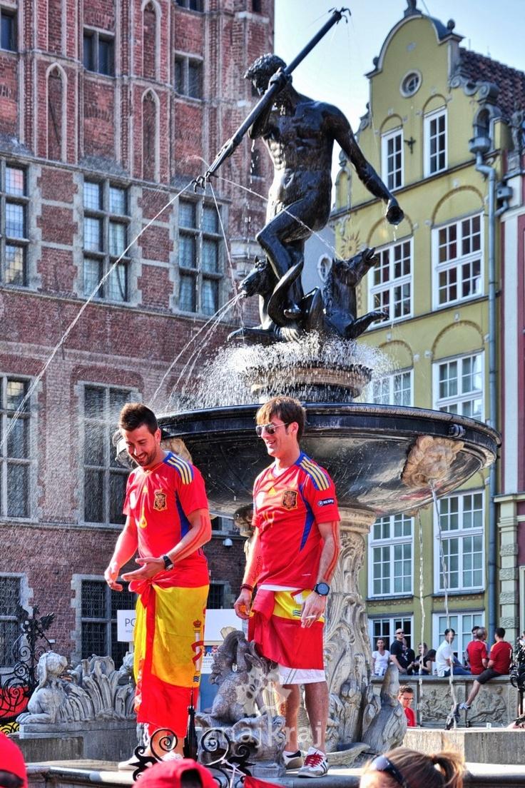 Euro 2012 in Gdansk. Croatia vs. Spain.