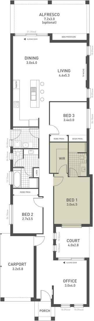 Design Two Floorplan Option A   From The Weeks And Macklin Homes Choice  Series. Flexible