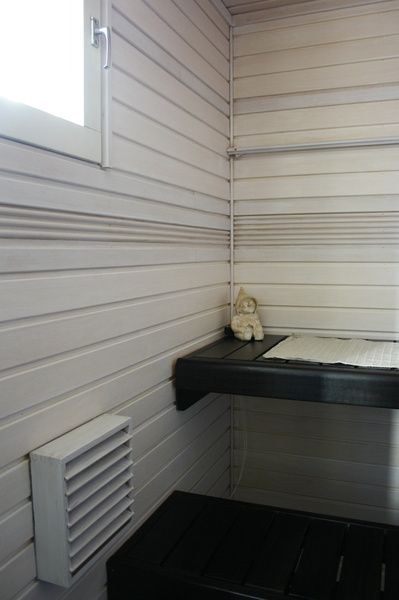 Paint your sauna black&white. Supi Saunavaha musta lauteissa, Supi Saunavaha valkoinen seinissä. #supisaunavaha #valkoinensauna By Decoaid.