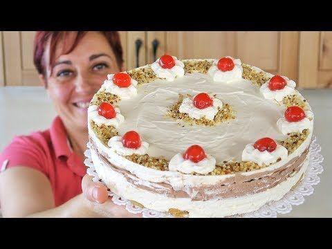 TORTA GELATO VANIGLIA E CIOCCOLATO Ricetta Facile Senza gelatiera - Chocolate Vanilla Ice Cream Cake - YouTube