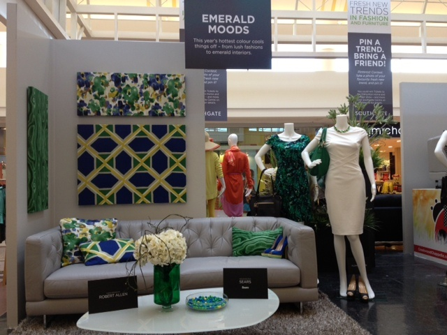 """Is the Emerald Moods vignette your fave? Re-pin this onto your """"Southgate and Edmonton Home Show Furniture Contest"""" as part of your contest entry!"""