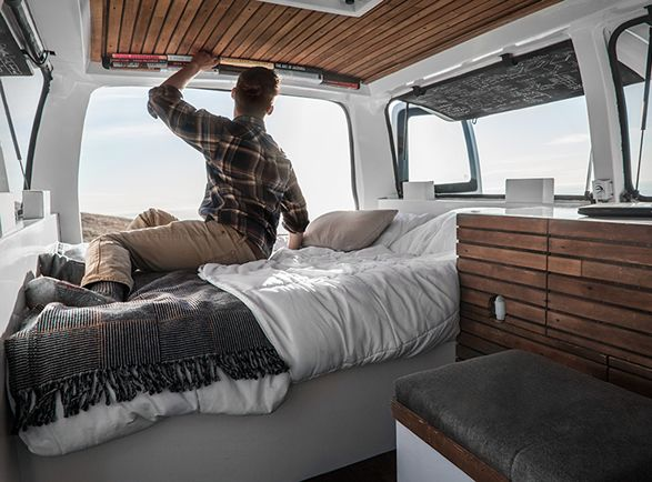 If you´re looking into converting a van into a camper this might be of your interest. The Vanual is a cargo van converted into a living space by filmmaker Zach Both as a way to both live and work anywhere in the country. The van marries both utility