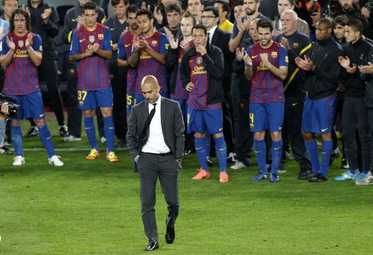 Team Barcalona give farewell to Pep GuARDIOLA