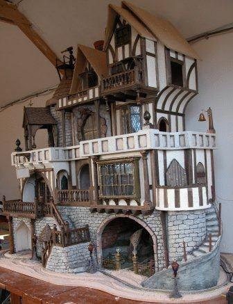 tudor style dollhouse | Tombstone West Saloonscale Doll House Plans Sale