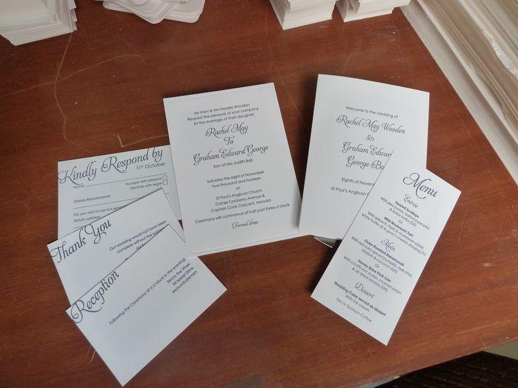 Rachel and Graham's wedding stationery.