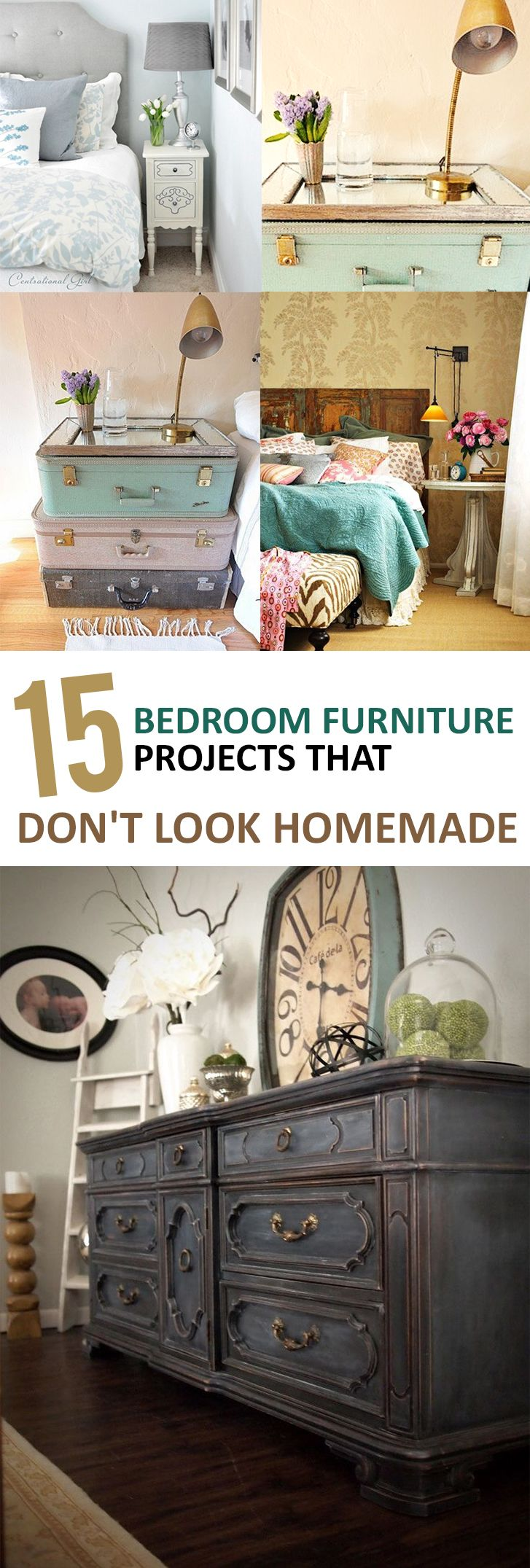 Charming 15 Bedroom Furniture Projects That Donu0027t Look Homemade