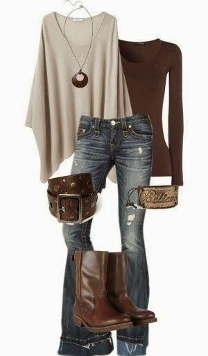 Our Believe Cuff Pinned by a few Pinterst folks! ......Oversize sweater, blouse, jeans, long boots and handbag combination Fun and Fashion Blog by DenyMacMart
