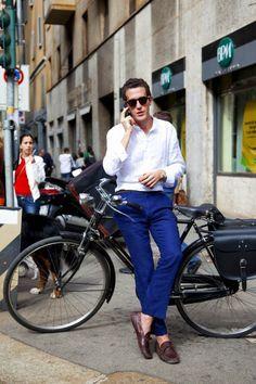 17 best ideas about Blue Pants Men on Pinterest | Casual mens ...