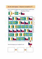 jeu de suite logique : drapeaux européens n°3