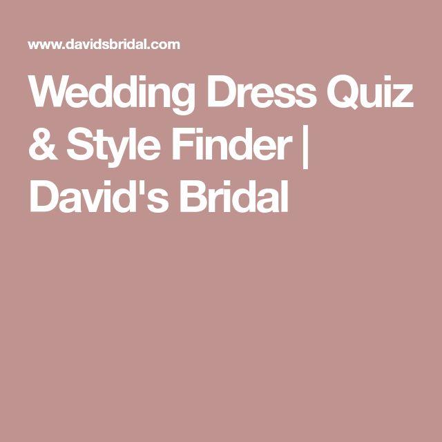 Wedding Dress Quiz & Style Finder   David's Bridal
