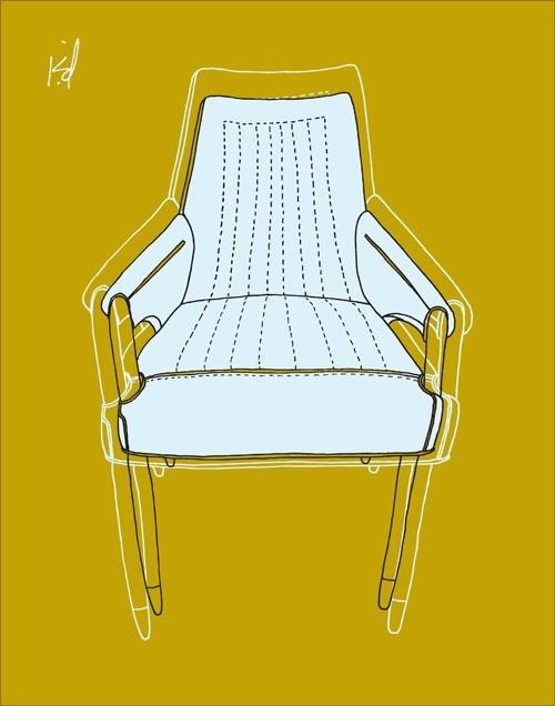 mid century modern chair | hhop via Etsy