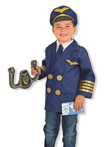 Can a great role play set make imaginations take flight? Roger that. This realistic pilot play set includes a steering yoke just like the one in real airplanes and a uniform that's easy for kids to...