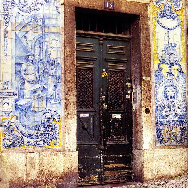 Lisbon Tiles facade - Old Town Lisbon, Portugal