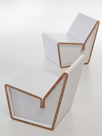 Showroom Finland presents the novelties for 2013 - At @imm cologne new products made from recycled #paper #recycle #chair