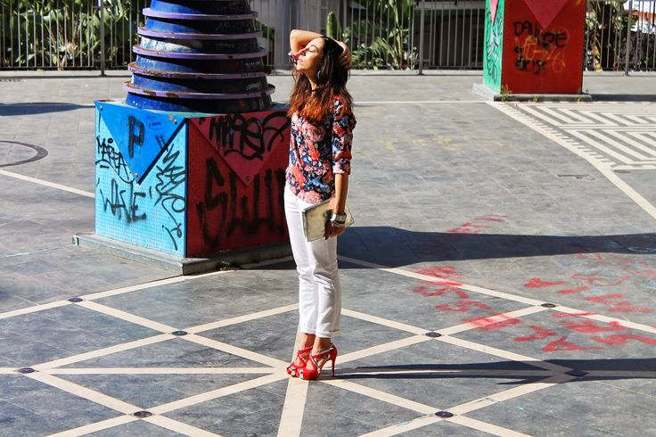 @modemoiselle wears red/silver #sandal to #springsummer collection of @sergiolevantesishoes