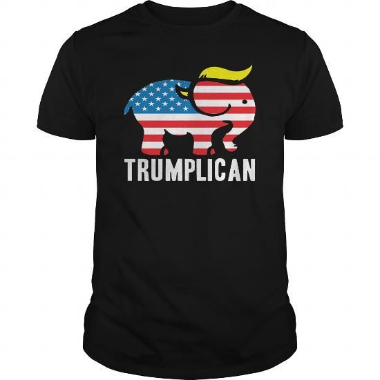 Awesome Tee Trumplican Donald Trump Republican Symbol Politics TShirt T shirts