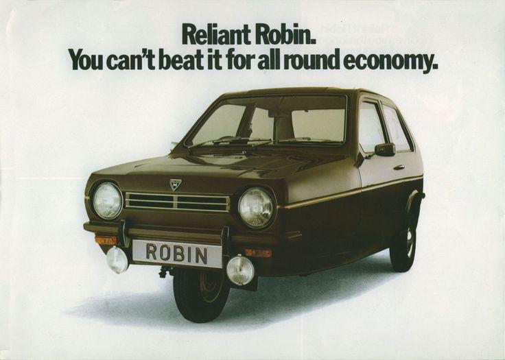Reliant c'est avant tout un constructeur de tricycles, ici son best seller, la Robin.
