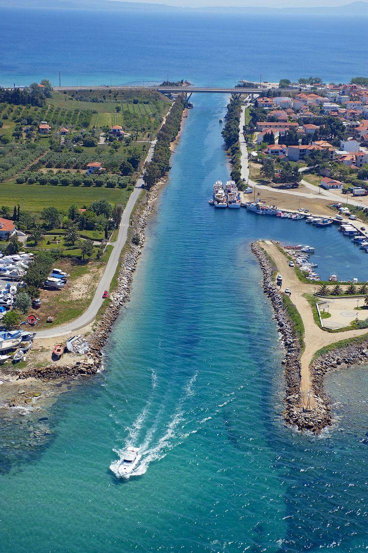 Potidea's canal, Halkidiki, Greece