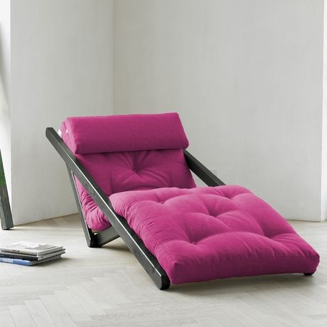 Figo Futon in Pink with Wenge Frame