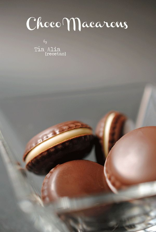 macarons de chocolate                                                                                                                                                                                 Más