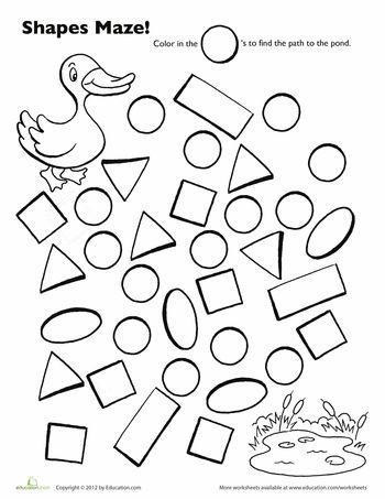 Preschool Worksheets: Duck Maze