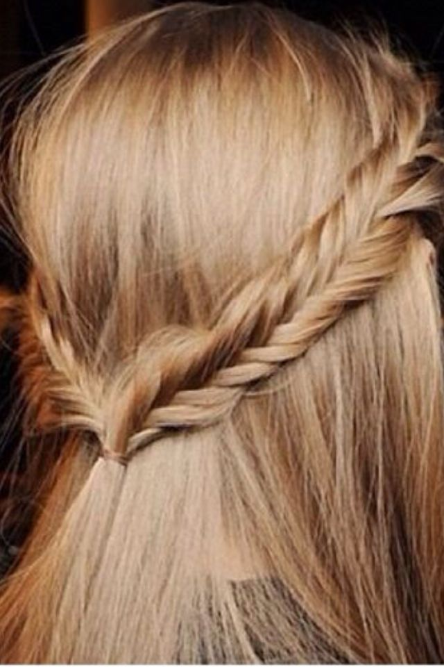 Cute Plait Love This Half Up Half Down Hair Style. #HairPlait