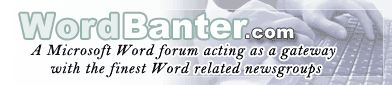 A Microsoft Word forum. Microsoft Office Word Forum - WordBanter