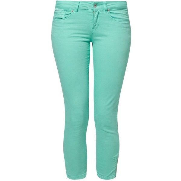 Superdry Trousers ($47) ❤ liked on Polyvore featuring pants, jeans, green, women's trousers, superdry, green pants, cotton pants, cotton trousers and blue pants