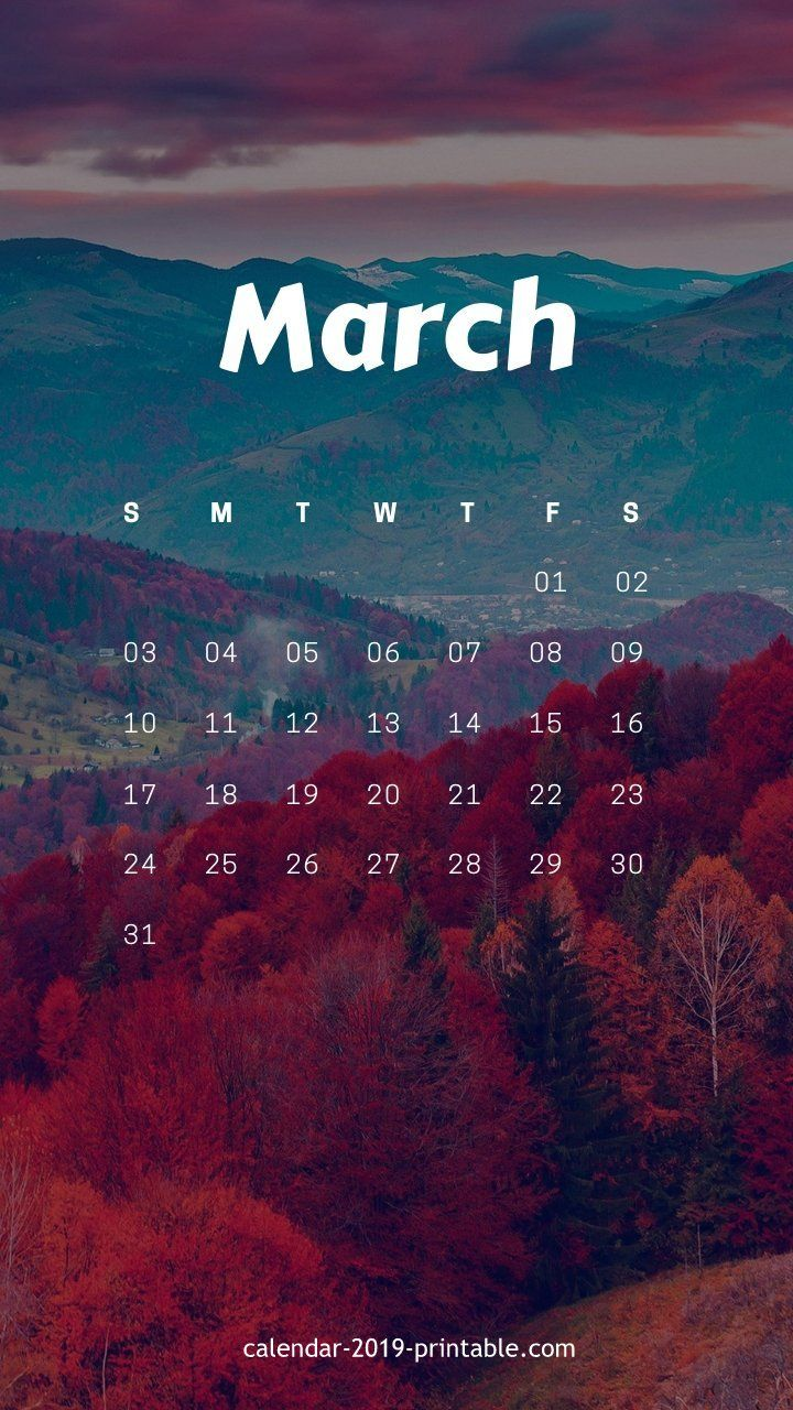 march 2019 amazing iphone calendar wallpaper