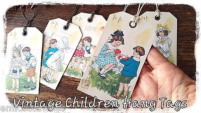6xGift Favour Tags Wedding Favour Party Thank you,Retro Card Making,Scrapbooki