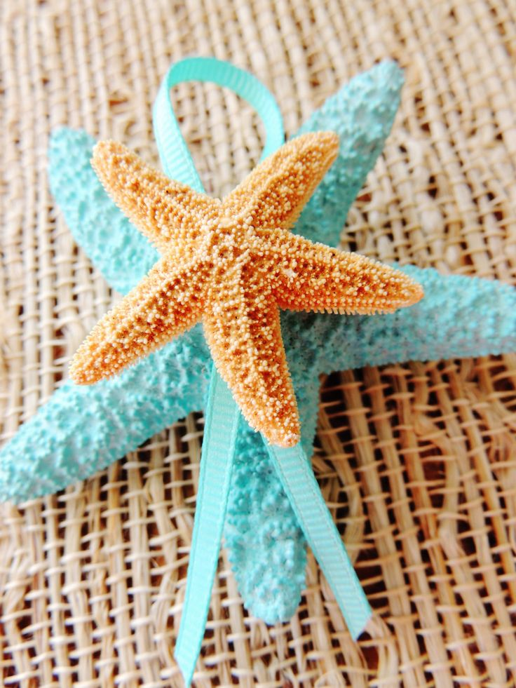Starfish Boutonniere Lapel Pin Groom Groomsmen Accessories Boutineer Pin Back Beach Wedding White Tiffany Blue Aqua Weddings Alternatives by unconventionalJ on Etsy