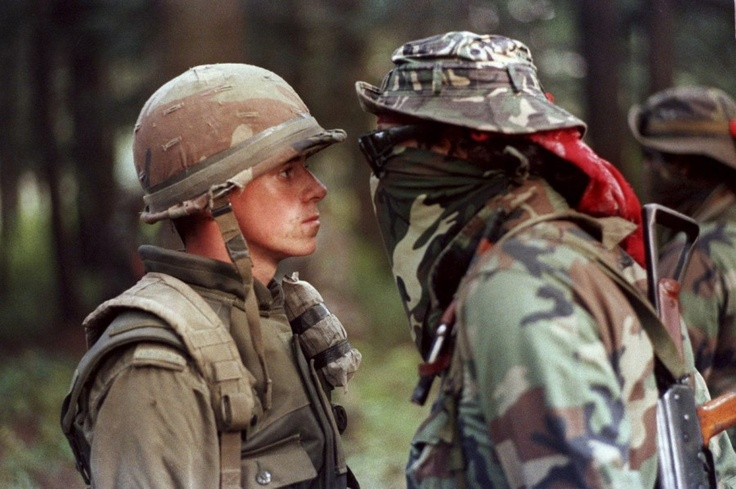 Face off during the Oka Crisis - This is probably Canada's most famous picture. The Oka Crisis was a land dispute between the Mohawk nation and the town of Oka, Quebec which began on March 11, 1990, and lasted until September 26, 1990. It resulted in three deaths