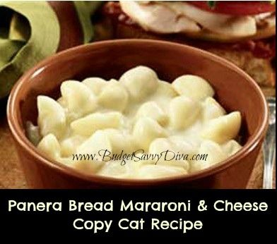 Panera Bread's Recipe for their Ultimate Macaroni and Cheese.