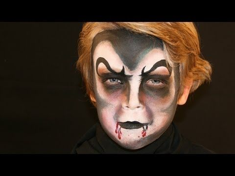 vampir schminken vampir kinderschminken vorlage video anleitung youtube halloween in. Black Bedroom Furniture Sets. Home Design Ideas